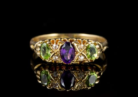 Antique Suffragette Edwardian 18ct Gold Ring Circa 1910 front