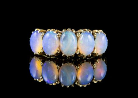 ANTIQUE VICTORIAN OPAL RING 18CT GOLD CIRCA 1900 front