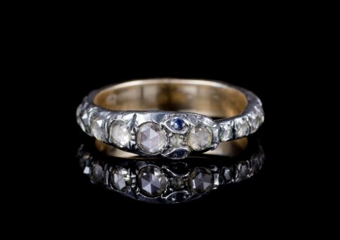 DIAMOND SNAKE ETERNITY RING 18CT GOLD SILVER 2CT OF DIAMOND front