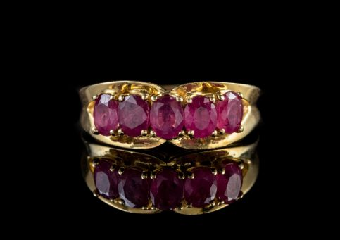 VINTAGE RUBY RING 14CT YELLOW GOLD 1.25CT OF RUBY front