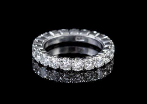 Vintage Diamond Eternity Ring Circa 1930 front