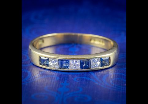 Art-Deco-Style-Sapphire-Diamond-Half-Eternity-Ring-COVER