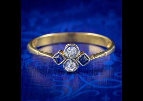 Art-Deco-Sapphire-Diamond-Cluster-Ring-Circa-1920-COVER