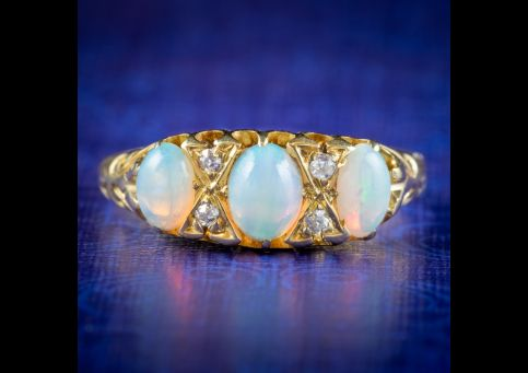 Antique-Victorian-Opal-Diamond-Cluster-Ring-Dated-1901-cover