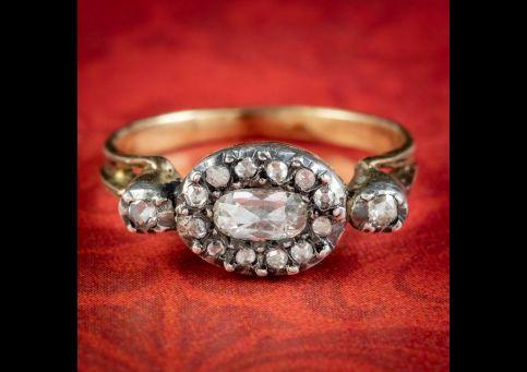 Georgian-Style-Diamond-Cluster-Ring-0.80ct-Of-Diamond-cover