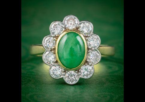 Vintage-Jade-Diamond-Ring-18ct-Gold-1ct-Jade-1.50ct-Of-Diamond-Dated-1989-cover