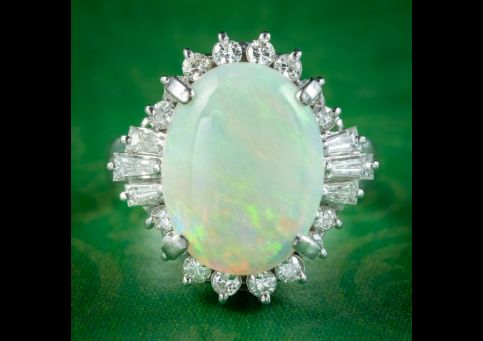 Art-Deco-Style-Opal-Diamond-Cluster-Ring-5ct-Opal-cover
