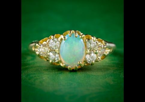 Antique-Victorian-Opal-Diamond-Cluster-Ring-Dated-1897-cover