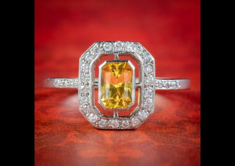 Art-Deco-Style-Yellow-Sapphire-Diamond-Cluster-Ring-cover