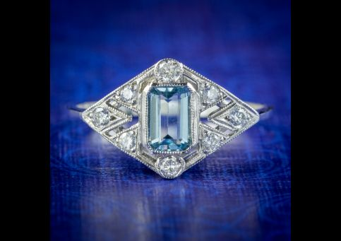 Art-Deco-Style-Aquamarine-Diamond-Cluster-Ring-cover