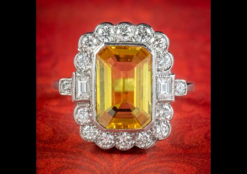 Yellow-Sapphire-Diamond-Ring-Platinum-4ct-Emerald-Cut-Sapphire-1.50ct-Of-Diamond-cover