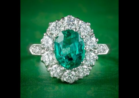 Edwardian-Style-Emerald-Diamond-Cluster-Ring-2ct-Emerald- cover