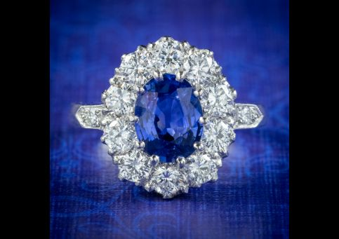 Edwardian-Style-Sapphire-Diamond-Cluster-Ring-1.70ct-Sapphire-cover