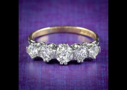 Vintage-Five-Stone-Diamond-Ring-1.25ct-Of-Diamond-Dated-1973-cover