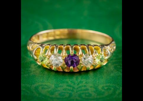 Antique-Edwardian-Suffragette-Ring-Diamond-Peridot-Amethyst-Dated-1907-cover