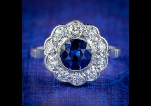 Antique-edwardian-sapphire-diamond-cluster-ring-1.25ct-sapphire-circa-1910-cover