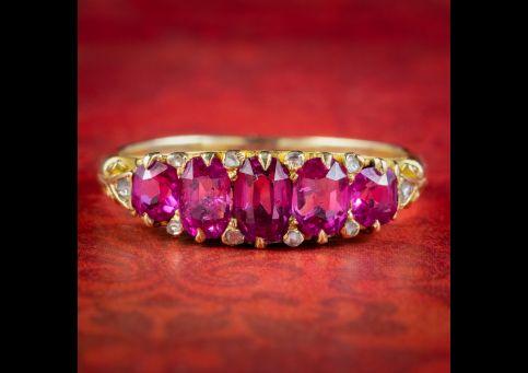 Antique-Victorian-Pink-Sapphire-Diamond-Ring-2ct-Of-Sapphire-Circa-1900-cover