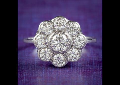 Edwardian-Style-Diamond-Cluster-Daisy-Ring-1.80ct-Diamond-cover