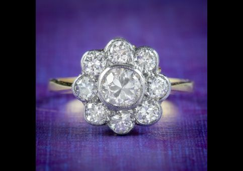 Edwardian-Style-Diamond-Daisy-Cluster-Ring-1.66ct-Of-Diamond-cover