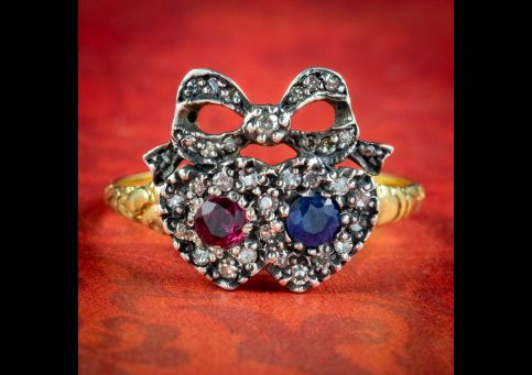 Georgian-Style-Ruby-Sapphire-Diamond-Heart-Ring-cover