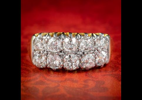 Antique-Victorian-Old-Cut-Diamond-Cluster-Ring-2.10ct-Diamond-Circa-1900-cover