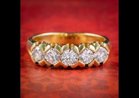 Antique-Edwardian-Five-Stone-Diamond-Ring-1.20ct-Of-Diamond-Circa-1915-cover