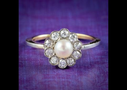 Antique-Edwardian-Pearl-Diamond-Daisy-Ring-Circa-1905-cover