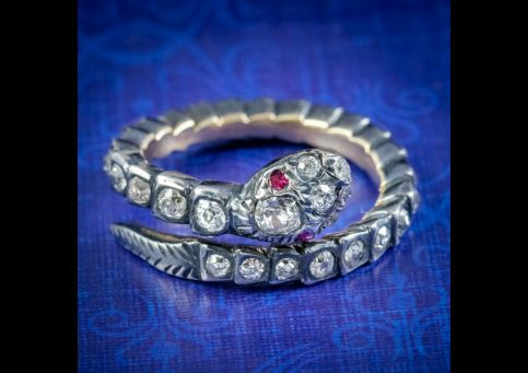 Georgian-Style-Diamond-Snake-Eternity-Ring-Ruby-Eyes-cover