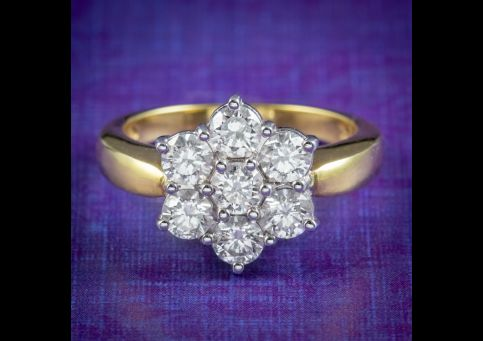 Edwardian-Style-Diamond-Cluster-Ring-1.61ct-Of-Diamond-cover