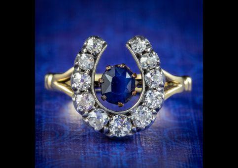 Antique-Victorian-Sapphire-Diamond-Horseshoe-Ring-Circa-1900-cover