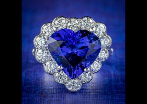 Edwardian-Style-Tanzanite-Diamond-Heart-Ring-7.5ct-Tanzanite-cover
