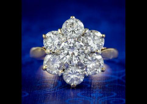 Vintage-Diamond-Cluster-Ring-2.50ct-Of-Diamond-cover