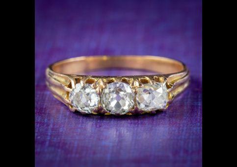 Antique-Victorian-Diamond-Trilogy-Ring-0.70ct-Of-Diamond-Circa-1870-cover