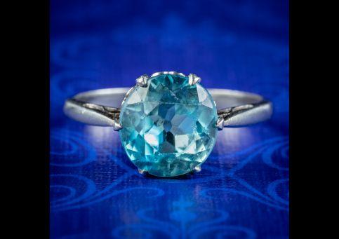 Antique-Edwardian-Blue-Zircon-Solitaire-Ring-3.30ct-Zircon-Circa-1905-cover