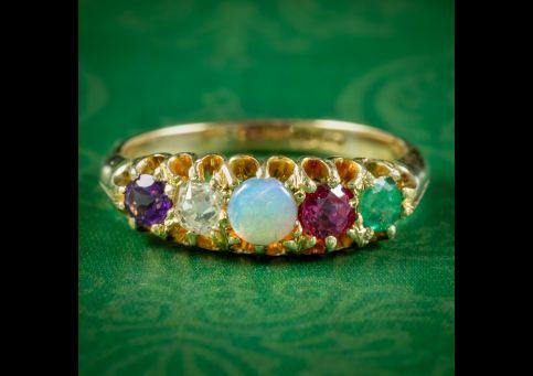 Antique-Victorian-Gemstone-Adore-Ring-Circa-1860-cover