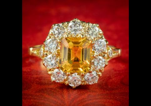 Victorian-Style-Yellow-Sapphire-Diamond-Ring-2.30ct-Sapphire-cover