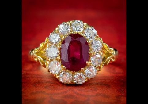 Victorian-Style-Ruby-Diamond-Cluster-Ring-2ct-Ruby-cover