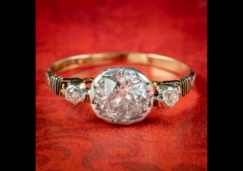 Georgian-Style-Diamond-Trilogy-Ring-1.70ct-Solitaire-cover