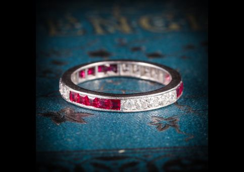 RUBY_DIAMOND_ETERNITY_RING_18CT_WHITE_GOLD_OLD_CUT_DIAMONDS_COVER
