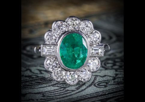EMERALD_DIAMOND_CLUSTER_RING_18CT_WHITE_GOLD_2.50CT_EMERALD_1.80CT_DIAMOND_COVER