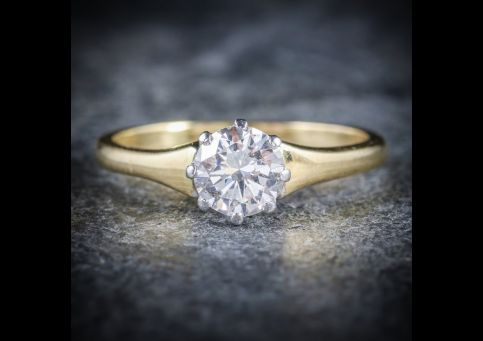 ANTIQUE_VICTORIAN_DIAMOND_ENGAGEMENT_RING_CIRCA_1900_18CT_GOLD_0.70CT_FRONT