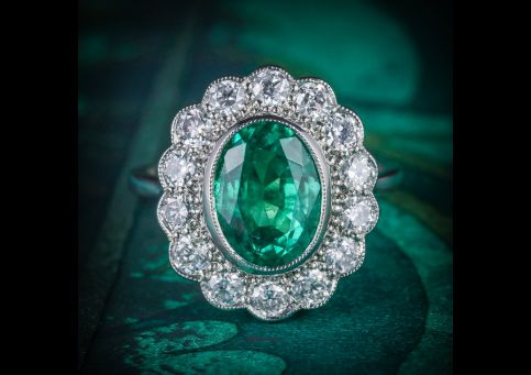 Emerald_Diamond_Cluster_Ring_All_Platinum_3.50ct_Emerald_COVER