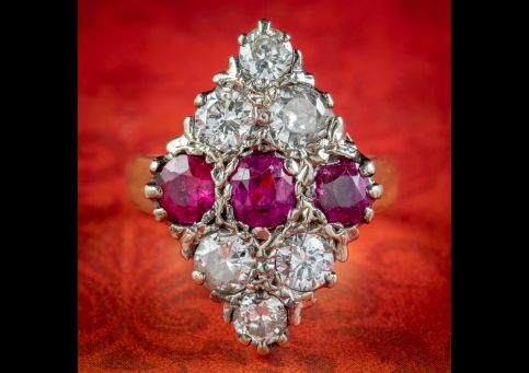 Antique-Edwardian-Diamond-Ruby-Cluster-Ring-1.45ct-Of-Ruby-Circa-1905-cover