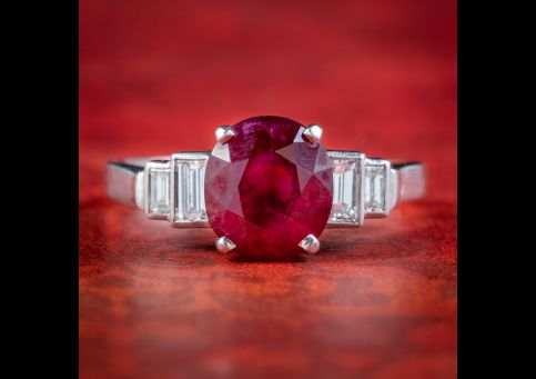 Art-Deco-French-Burmese-Ruby-Diamond-Ring-2.40ct-Ruby-With-Cert-cover