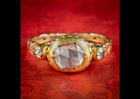 Antique-Georgian-Diamond-Trilogy-Ring-1.80ct-Rose-Cut-Circa-1780-cover