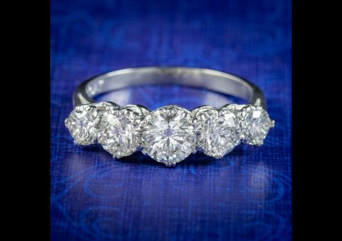 Antique-Edwardian-Five-Stone-Diamond-Ring-2.36ct-Diamond-Circa-1905-cover