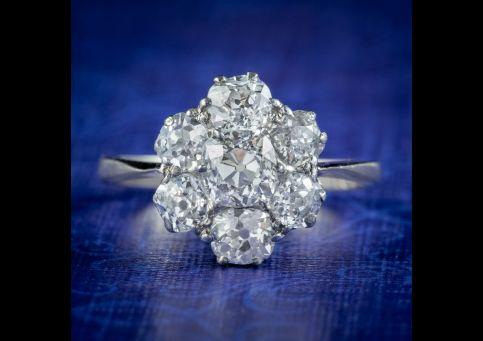 Antique-Edwardian-Old-Cut-Diamond-Cluster-Ring-2.20ct-Diamond-Circa-1905-cover