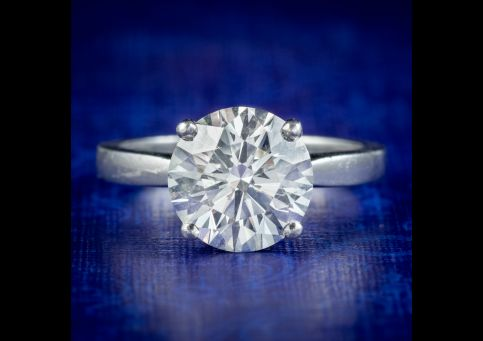 Edwardian-Style-Diamond-Solitaire-Engagement-Ring-3.67ct-Diamond-With-Cert-cover