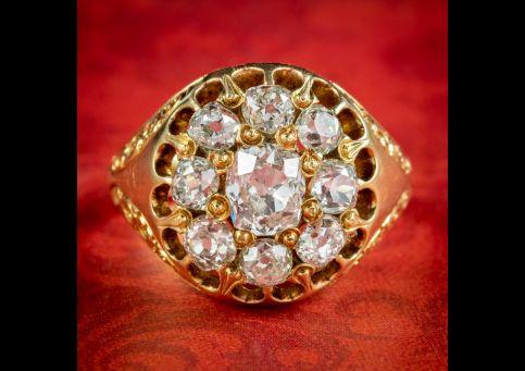 Antique-Victorian-Diamond-Cluster-Ring-1.60ct-Of-Diamond-Circa-1880-Boxed-cover