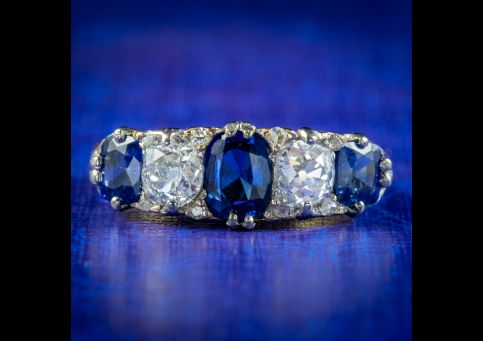 Antique-Victorian-Sapphire-Diamond-Ring-1.70ct-Sapphire-Circa-1900-cover